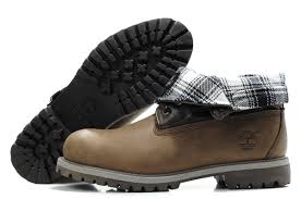 timberland men brown black white roll top boots tim 071 cheap