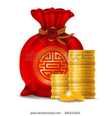 new year money bags bag new year golden stock vector 551411824