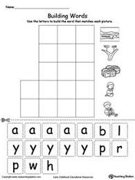 ay word family workbook for kindergarten word families writing