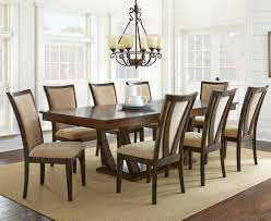 Silver Dining Room Chairs by Steve Silver Gabrielle 9 Piece Dining Room Set In Medium Walnut