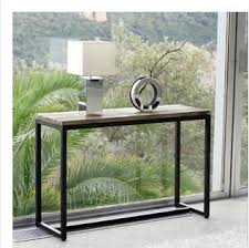 Wrought Iron Console Table Tables American Country Vintage Wrought Iron Console Table By