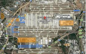atlanta international airport map atlanta airport squeezes expansion into limited space