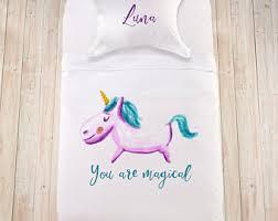 Girls Bedding Queen Size by Unicorn Bedding Etsy