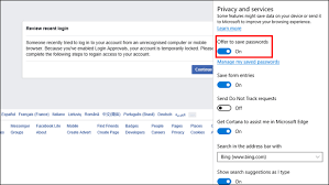 cortana take me to my facebook page how to make your web browser remember passwords bt