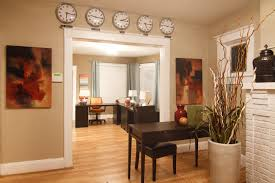 Interior Design Tips For Home Office Elegant Dark Brown Table And Nice White Chair In Home