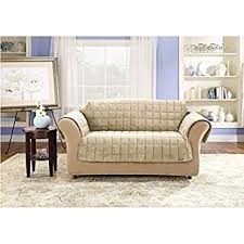 Sofa Loveseat Covers by Amazon Com Sure Fit Deluxe Pet Cover Loveseat Slipcover Ivory