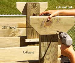 Wooden Deck Bench Plans Free by Wishing Work