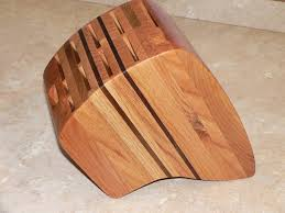 premium large handmade knife block 245 00 via etsy creative