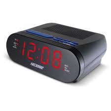 nelsonic opp led clock radio with digital tuner walmart com