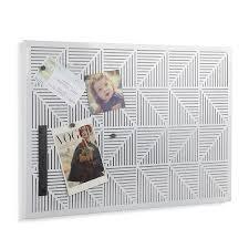Decorative Magnetic Boards For Home Amazon Com Umbra Trigon Metal Bulletin Board White Home U0026 Kitchen