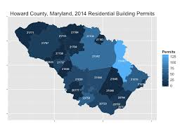 Maps With Zip Codes by Fun With Howard County Building Permit Data Civility And Truth