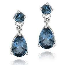 blue earrings london blue topaz earrings ebay