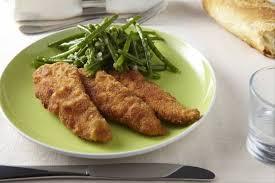 cuisiner des aiguillettes de poulet recette de aiguillettes de poulet panées poêlée de haricots verts