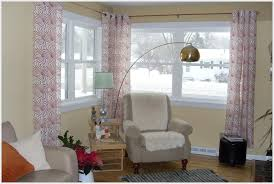 Curtains Corner Windows Ideas Amazing Of Curtain Rod For Corner Windows Ideas With Ideal Corner