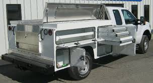Slide Out Truck Bed Tool Boxes Custom Aluminum Utility Truck Bed