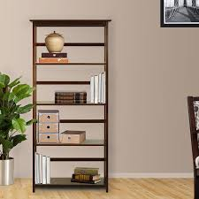 Mission Bookshelves by Amazon Com Casual Home 5 Tier Mission Style Bookcase Walnut