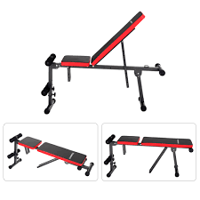 tomshoo adjustable folding ab bench home gym workout weight bench