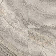 shop emser silver travertine floor and wall tile common 18 in x