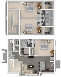 Arlington House Floor Plan Louisiana State University 3 Bedroom Student Apartments For Rent