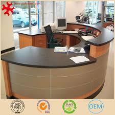 Modern Solid Wood Semi Circle Office Furniture Cheap Reception