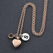 necklaces that hold ashes ijd0025 diy gold stainless steel 13mm heart urn charm