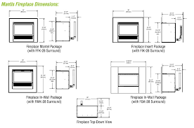 Fireplace Insert Dimensions by Propane Fireplace Dimensions Fireplace Design And Ideas