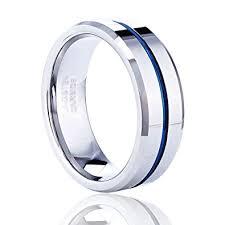 thin blue line wedding band tusen jewelry 8mm mens wedding band thin blue line plated tungsten