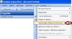 outlook message absence bureau comment utiliser le gestionnaire d absence du bureau dans outlook