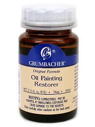 grumbacher oil painting restorer misterart com