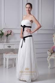 white strapless chiffon drop waist ruffled skirt prom dress lace