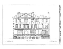 Charleston Floor Plan by Historic House Plan Drawings Of Charleston South Carolina J