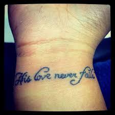 love never fails but