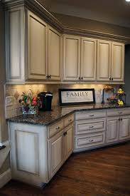 Antiquewhitekitchencabinetsafterglazingjpg HomeLiving - Kitchen cabinets colors and designs