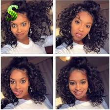 Black Hair Styles Extensions by Curly Wig Glueless Full Lace Human Hair Wigs Short Human Hair Lace