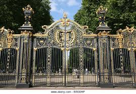 gates wrought iron gilt stock photos gates wrought iron gilt