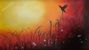 painting for sunset bird easy lesson acrylic painting for beginners learn to