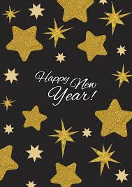 happy new year post card happy new year golden new year cards send real postcards