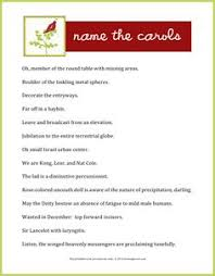 Christmas Games For Party Ideas - guess the christmas carol use the clues to guess the carol a