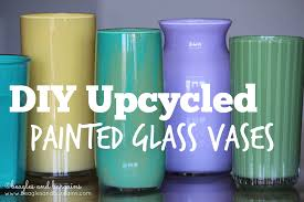 Glas Vases Upcycled Painted Glass Vase
