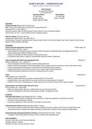 Resume Samples In The Philippines by Undergraduate Resume Template Word Free Resume Example And