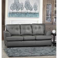 Grey Leather Tufted Sofa Top Product Reviews For Parker Top Grain Leather Sofa 5389062