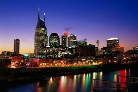 Nashville On Map Cumberland River And Nashville Skyline Tennessee Pictures