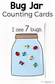 bug jar counting game kids