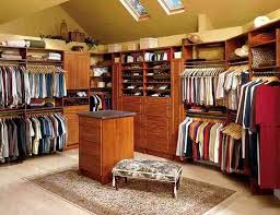 interior simple and neat cool walk in closet design and decoration