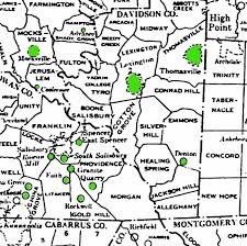Nc Counties Map Introduction Davidson Co Nc