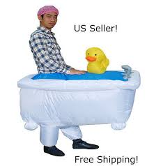 Inflatable Halloween Costume Bathtub Duck Inflatable Blow Body Halloween Costume