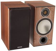 amazon com monitor audio bronze 2 bookshelf speakers walnut