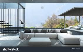 livingroom in livingroom house style modern loft pool stock illustration