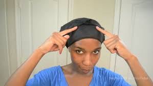 how to secure satin scarves for natural hair with pictures