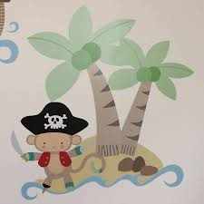 pirate monkey wall stickers by parkins interiors pirate monkey wall stickers